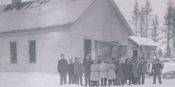 Image of first school built in 1906