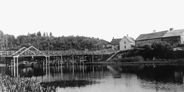 Image of the second bridge over the Vermilion River built in